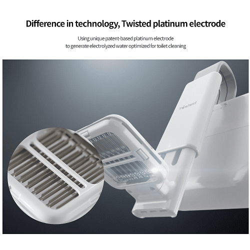 Máy tạo nước điện phân làm sạch toilet - Toelect V1 - Khử trùng 99,9% bằng nước và muối - axit xitric
